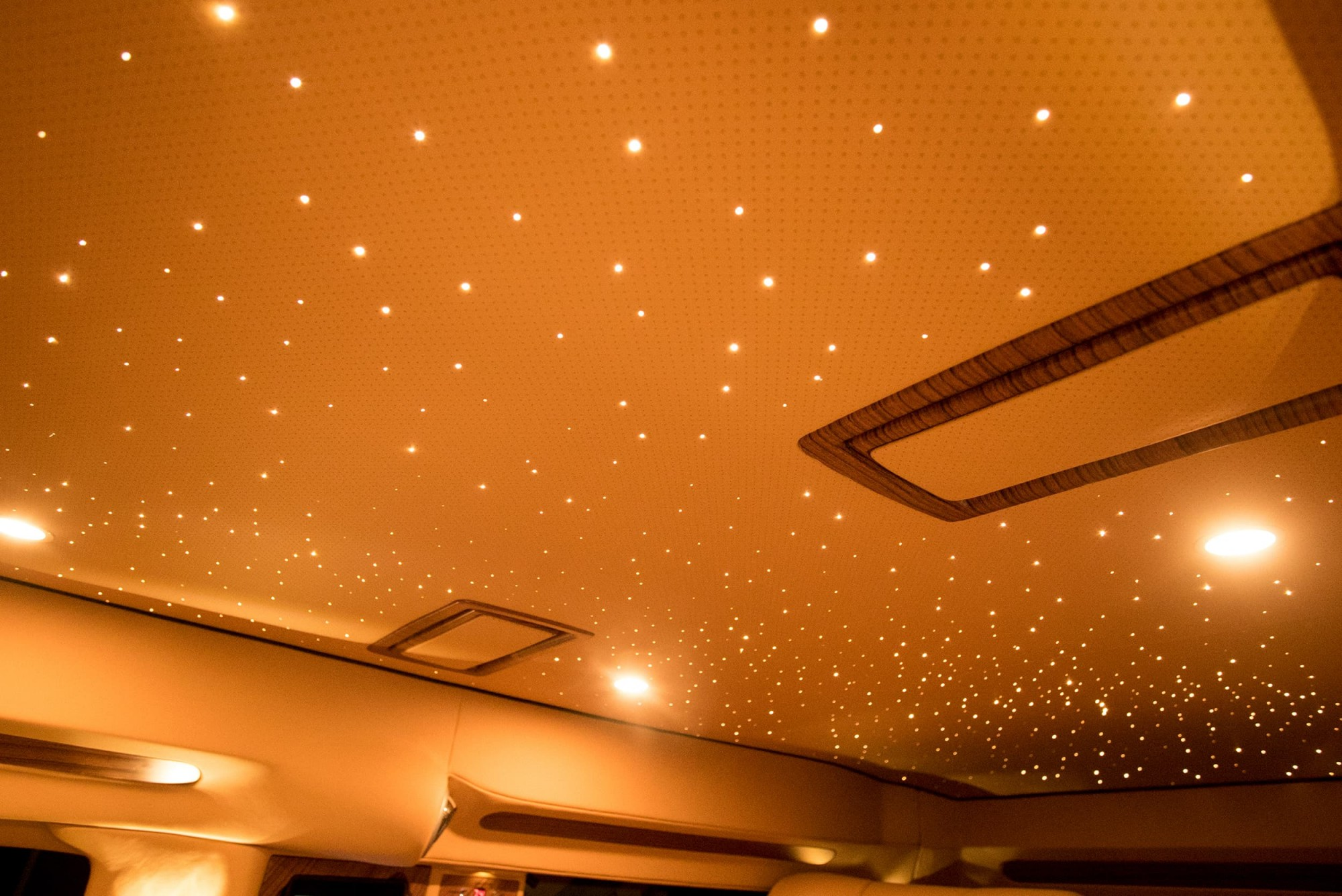 Ambient overhead LED lighting
