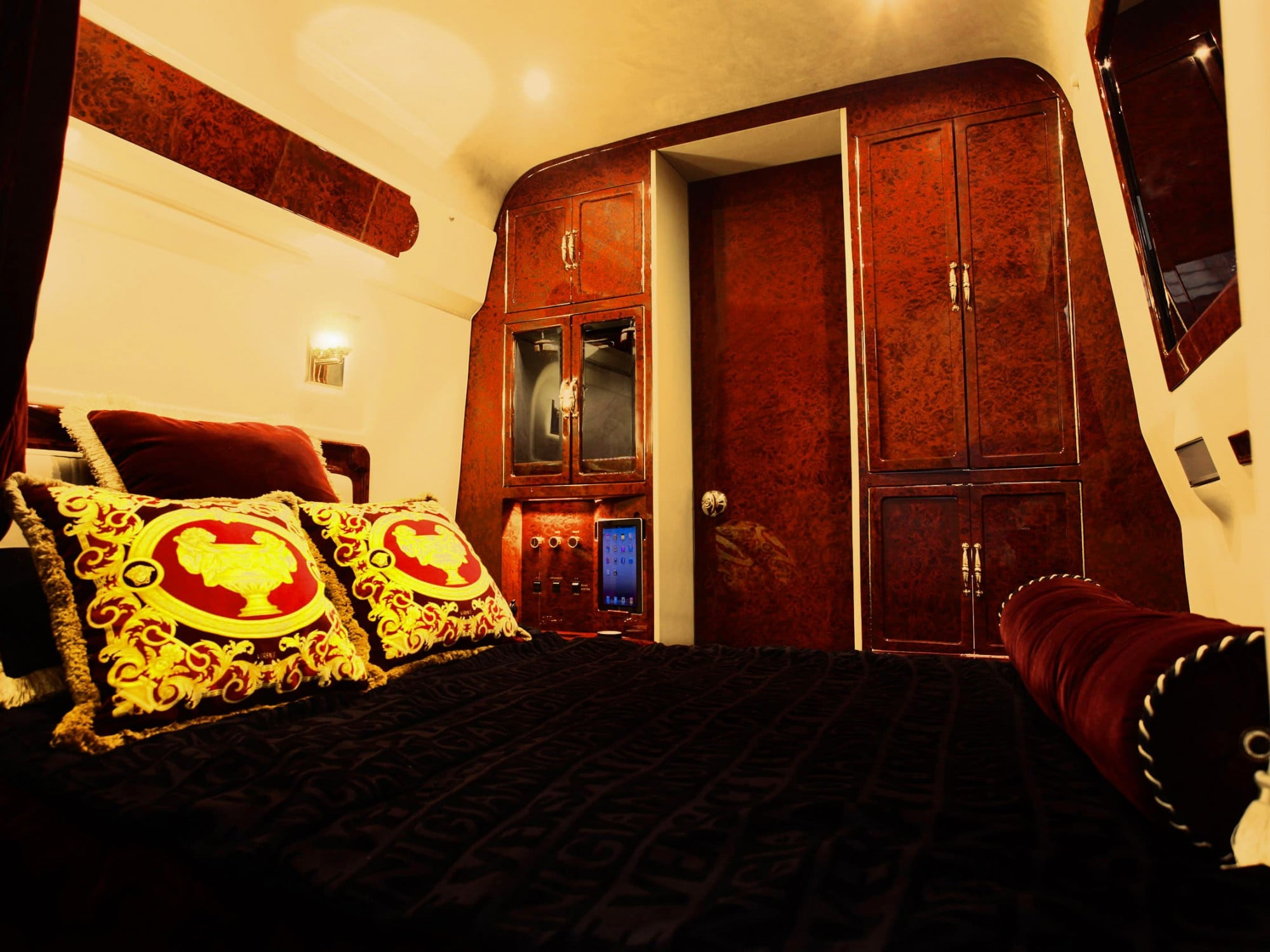Lexani Motorcars luxury bedroom/private rest area vehicle conversion